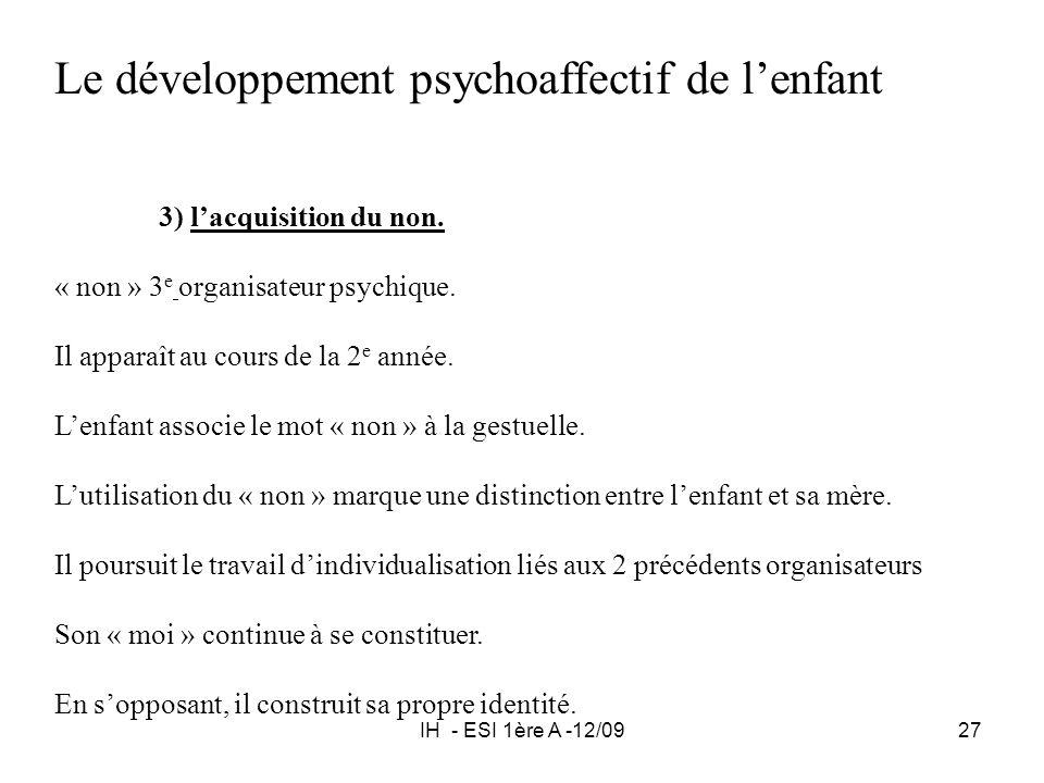 Le développement psychoaffectif de l'enfant