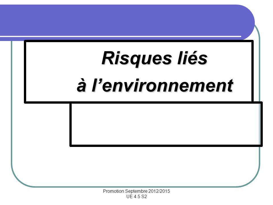 Risques liés à l'environnement