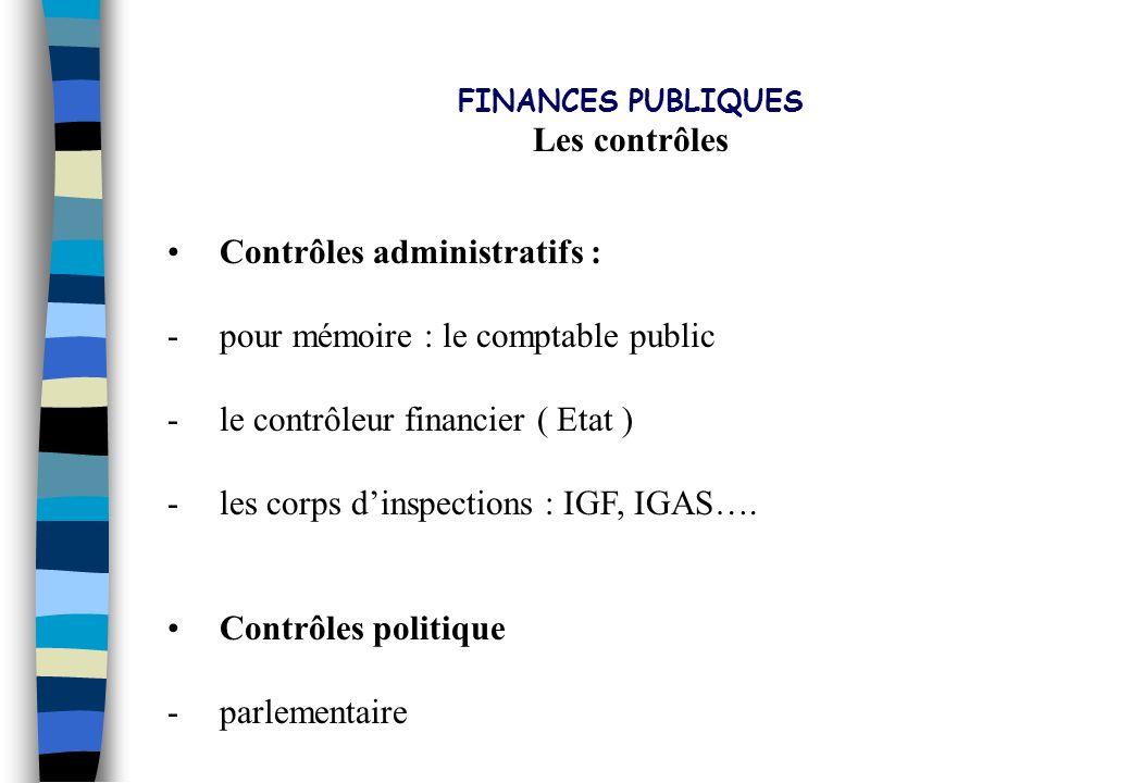 PLAN DIRECTEUR 2002 - 2006 Les contrôles Contrôles administratifs :
