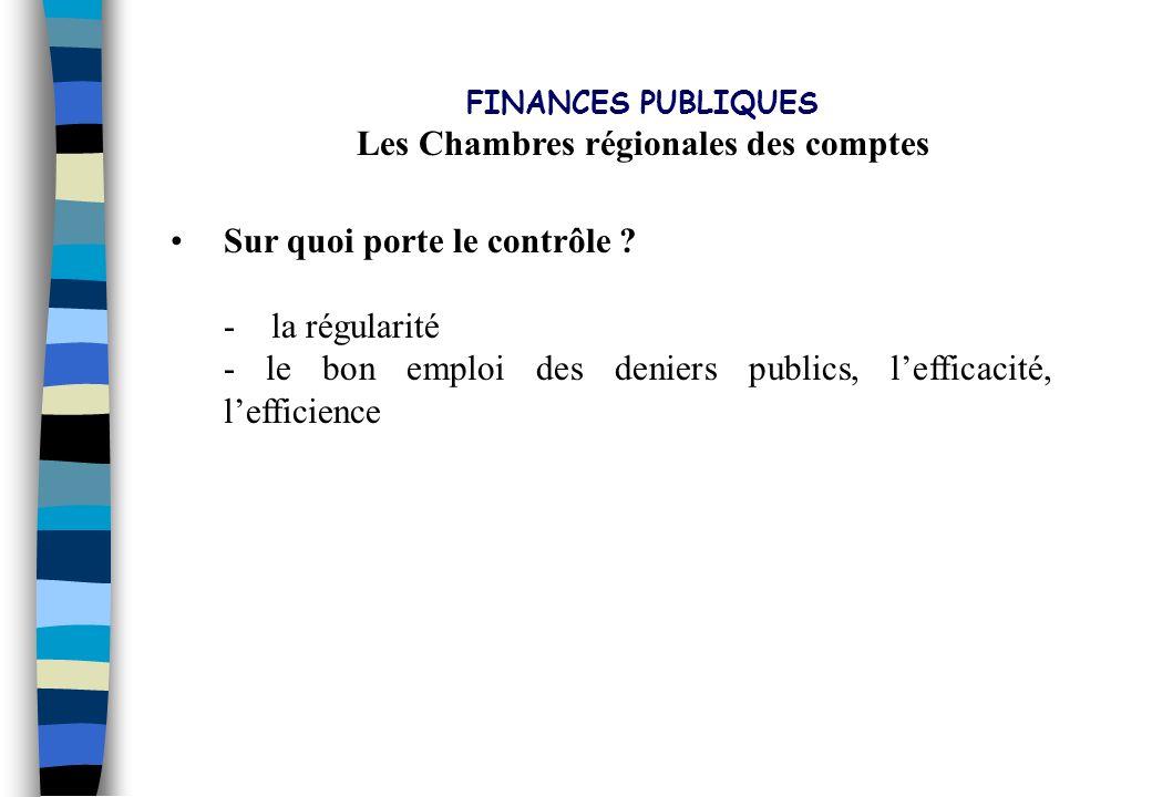 Les Chambres régionales des comptes