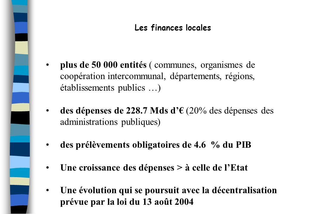 Les finances locales plus de 50 000 entités ( communes, organismes de. coopération intercommunal, départements, régions, établissements publics …)