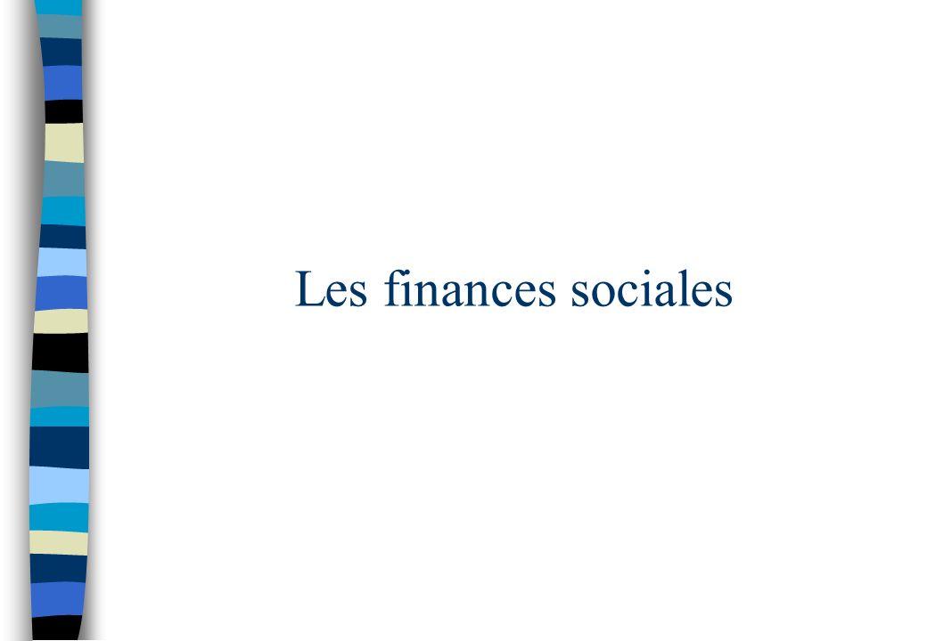 Les finances sociales