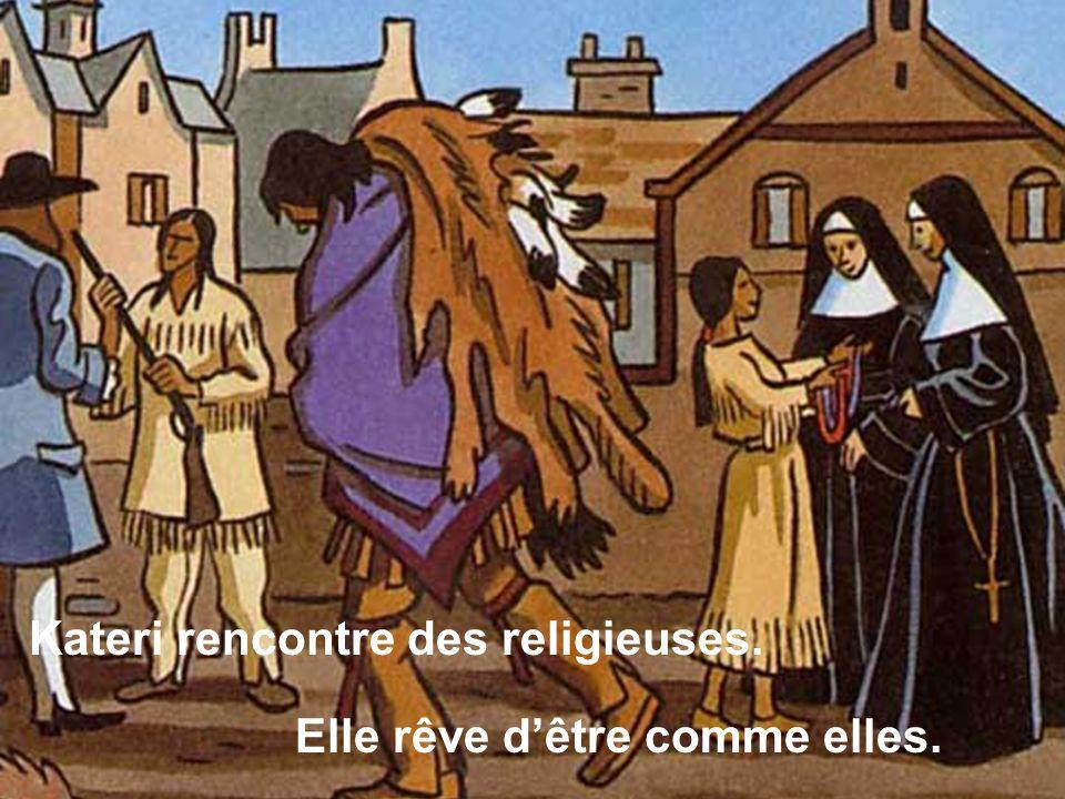Kateri rencontre des religieuses.