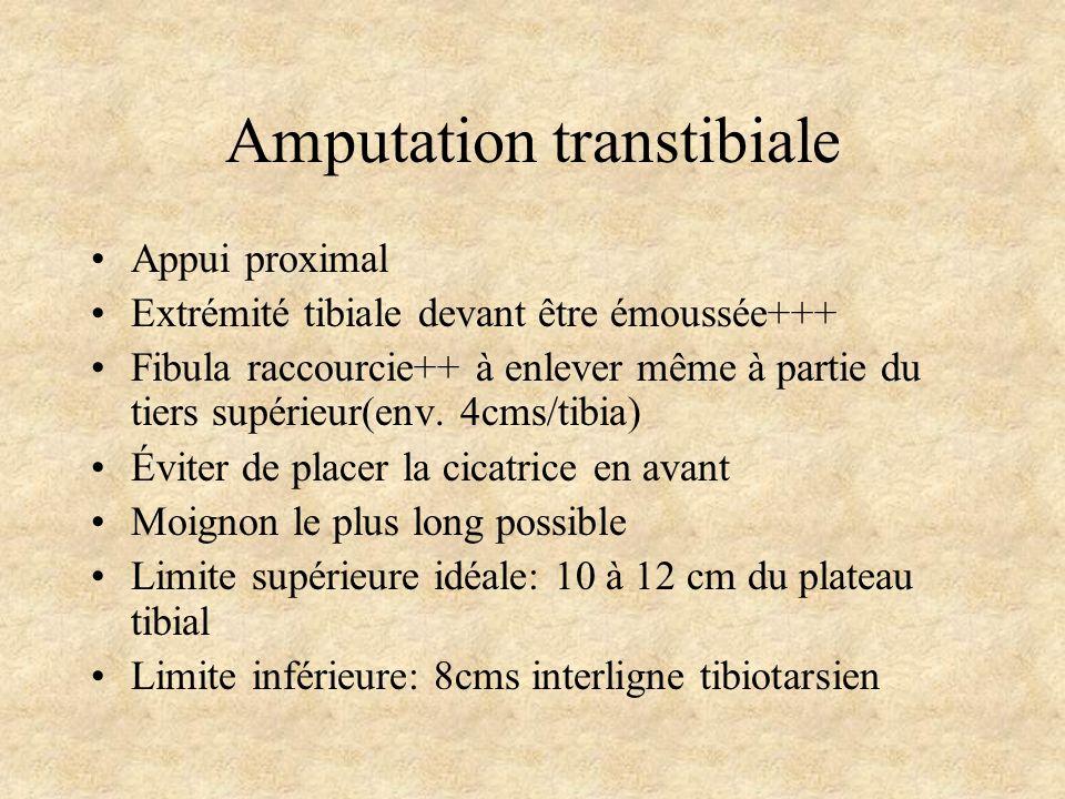 Amputation transtibiale