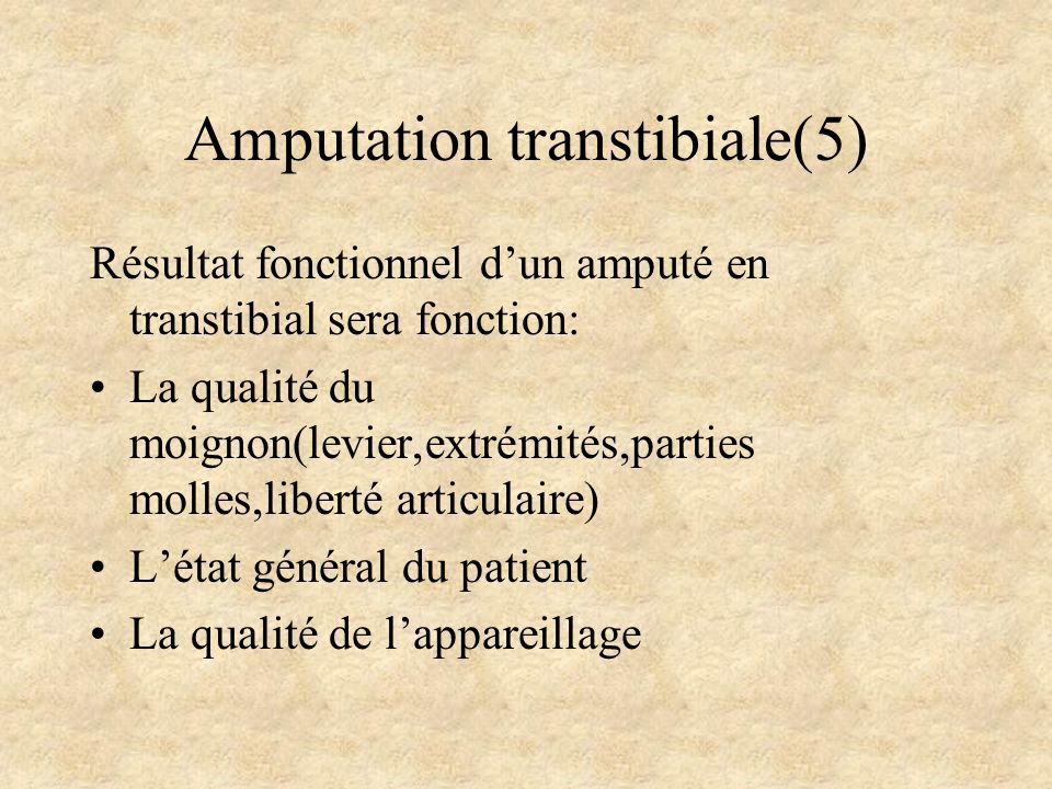 Amputation transtibiale(5)