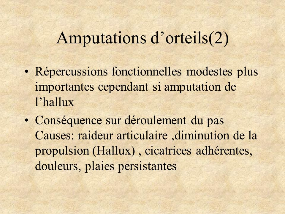 Amputations d'orteils(2)