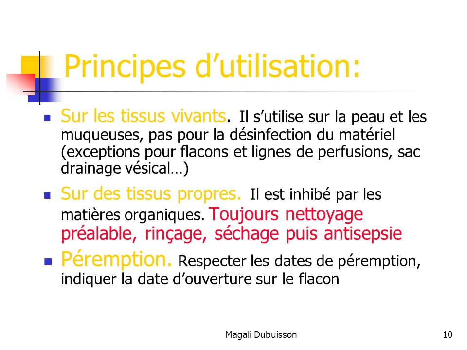 Principes d'utilisation: