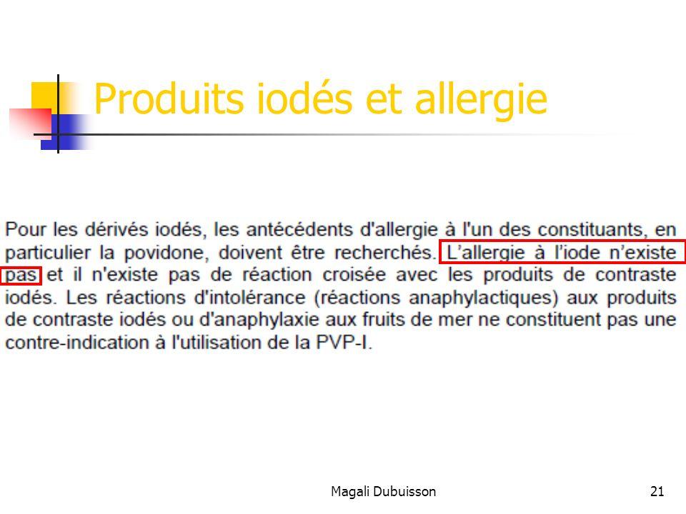 Produits iodés et allergie
