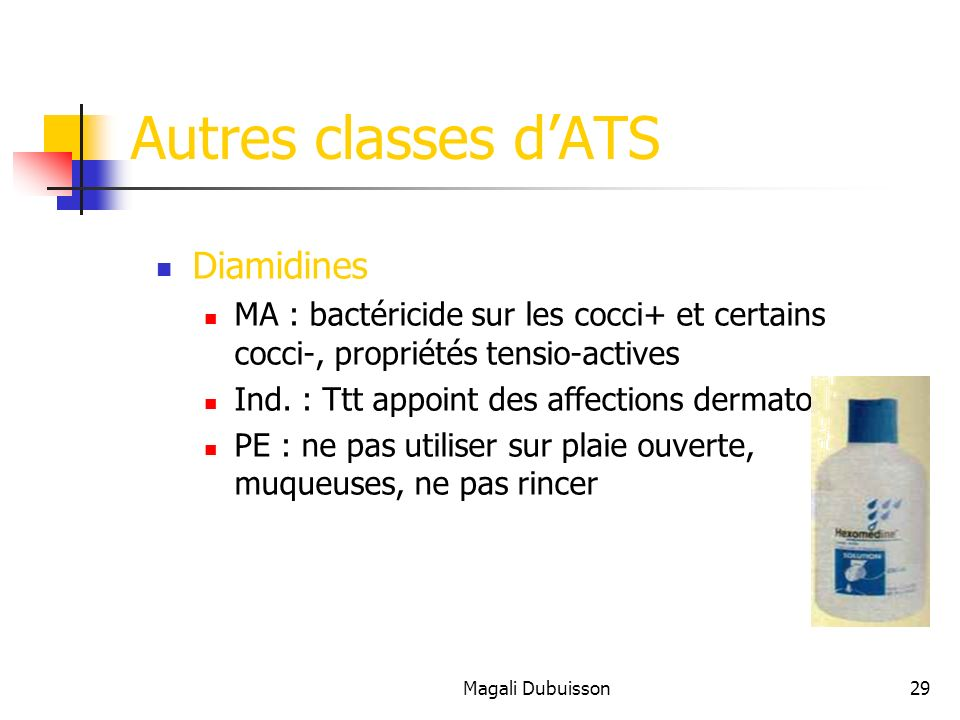 Autres classes d'ATS Diamidines