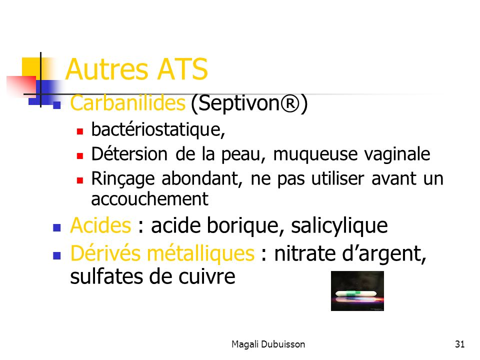 Autres ATS Carbanilides (Septivon®)