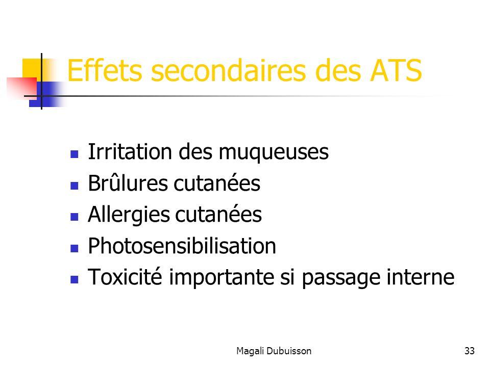 Effets secondaires des ATS