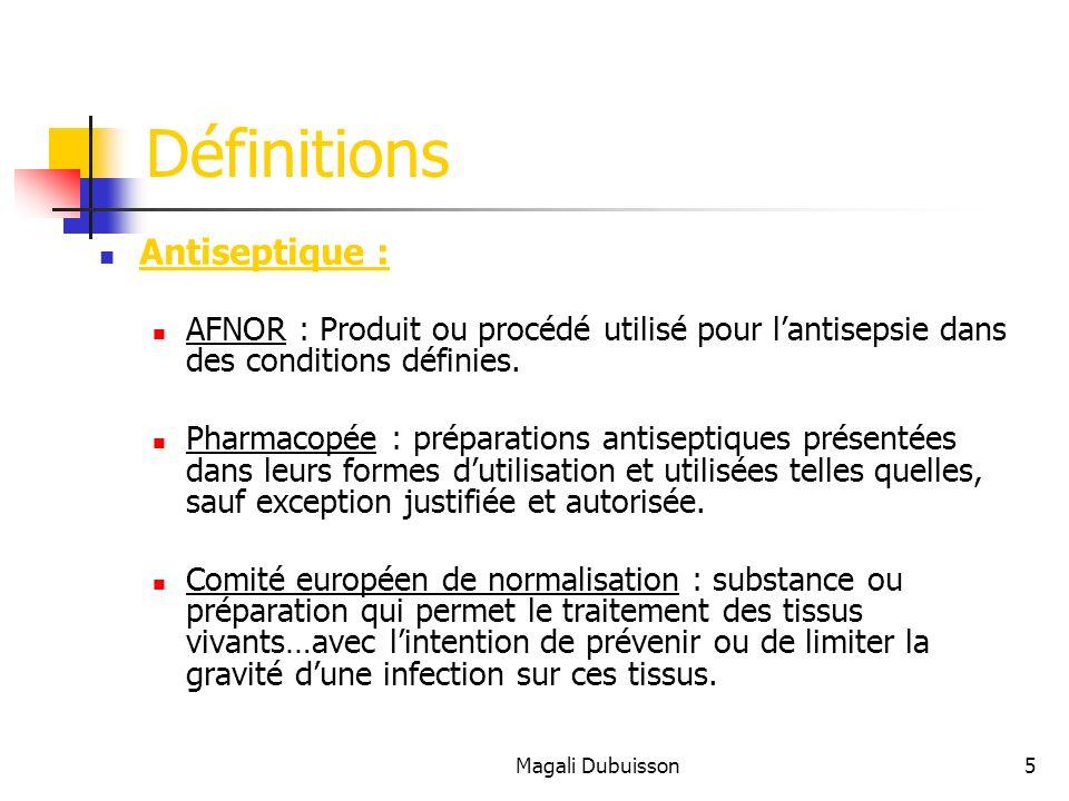 Définitions Antiseptique :