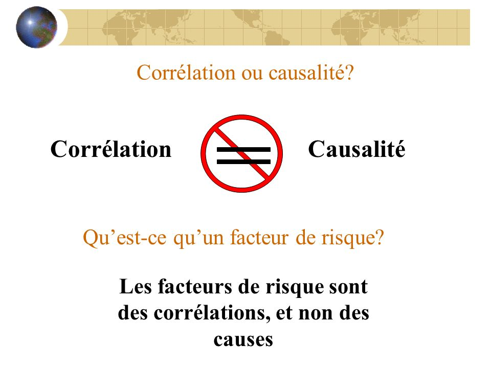 Corrélation ou causalité