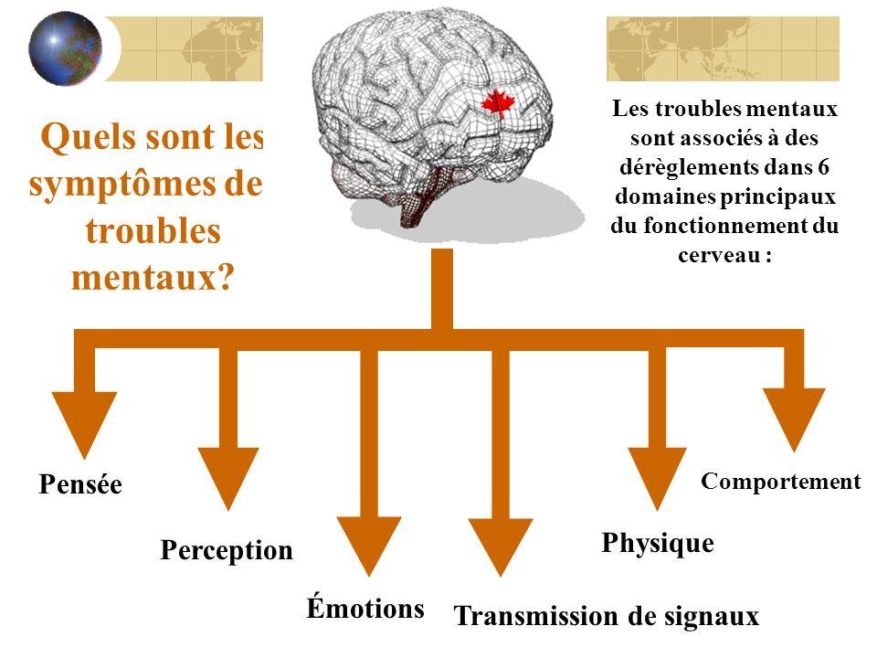 Quels sont les symptômes des troubles mentaux