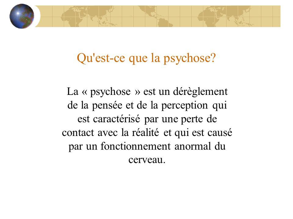 Qu est-ce que la psychose
