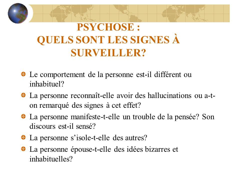 PSYCHOSE : QUELS SONT LES SIGNES À SURVEILLER