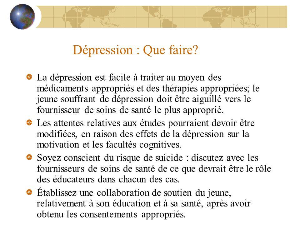 Dépression : Que faire