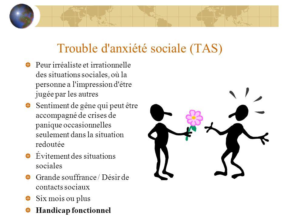 Trouble d anxiété sociale (TAS)