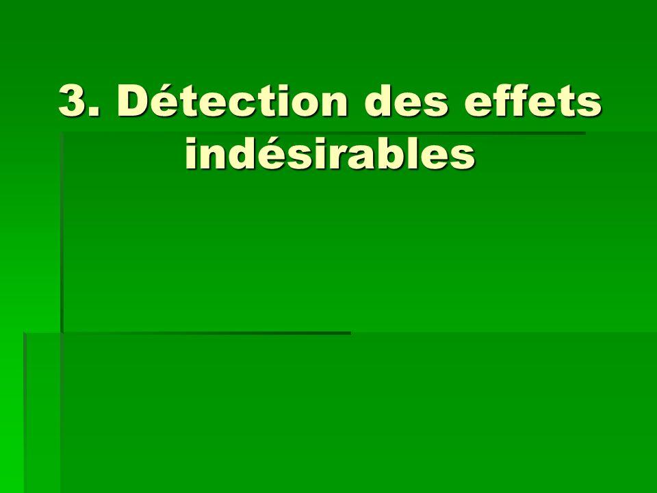 3. Détection des effets indésirables