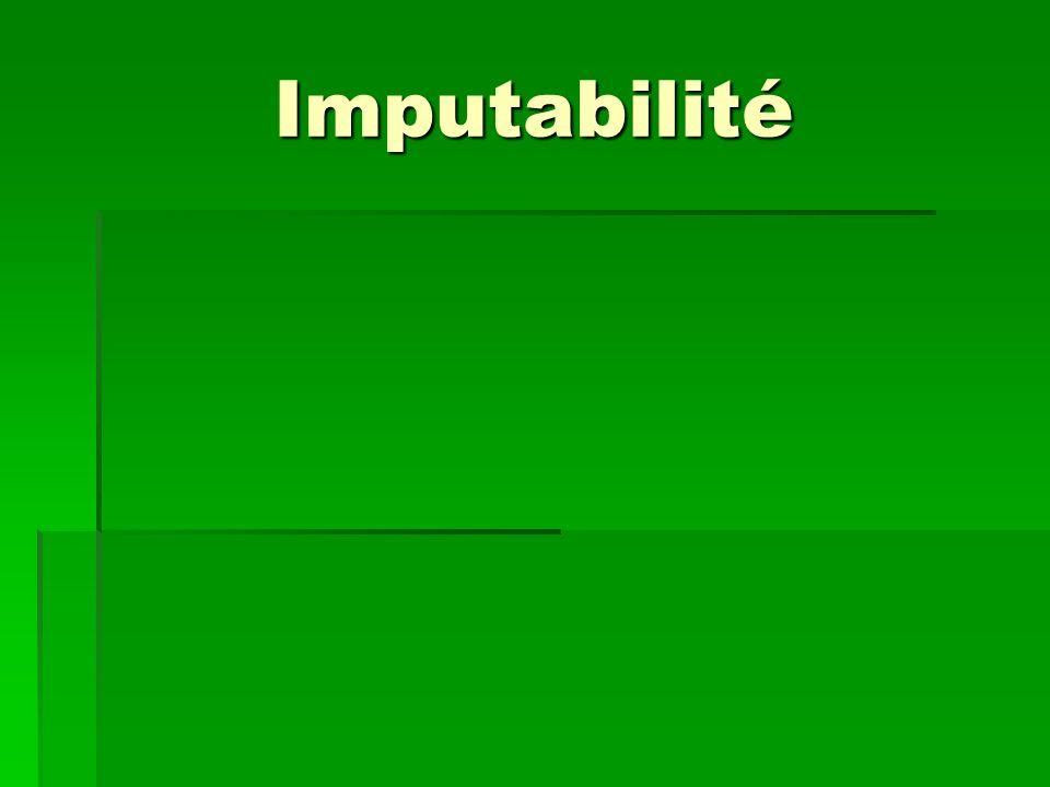 Imputabilité