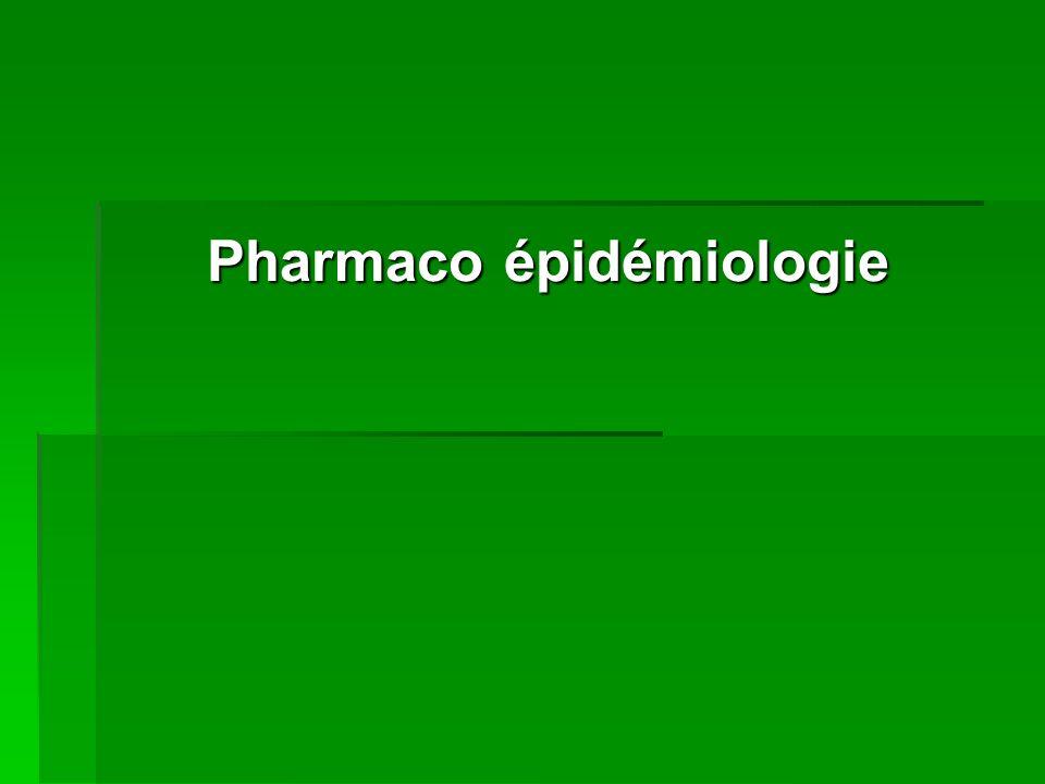 Pharmaco épidémiologie
