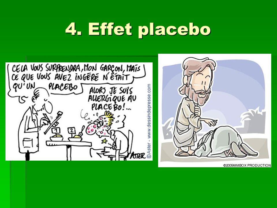 4. Effet placebo