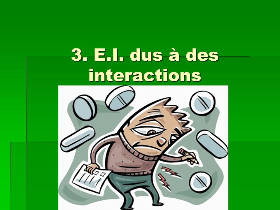 3. E.I. dus à des interactions