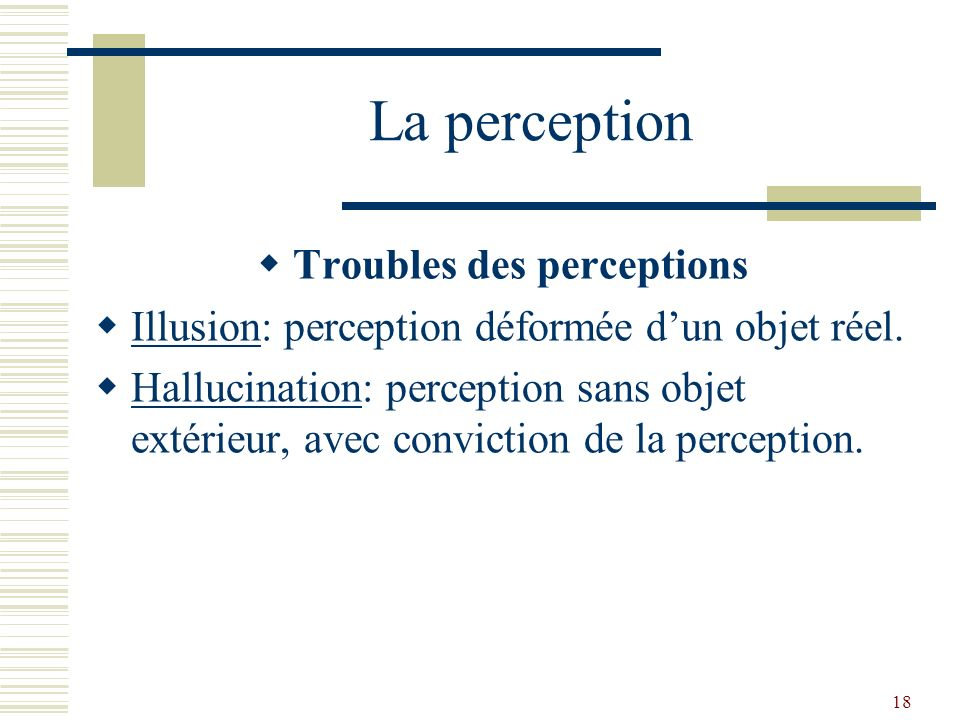 Troubles des perceptions