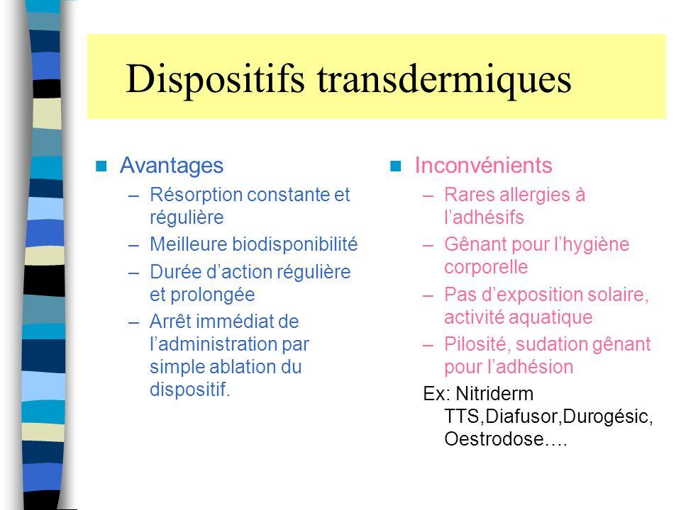 Dispositifs transdermiques