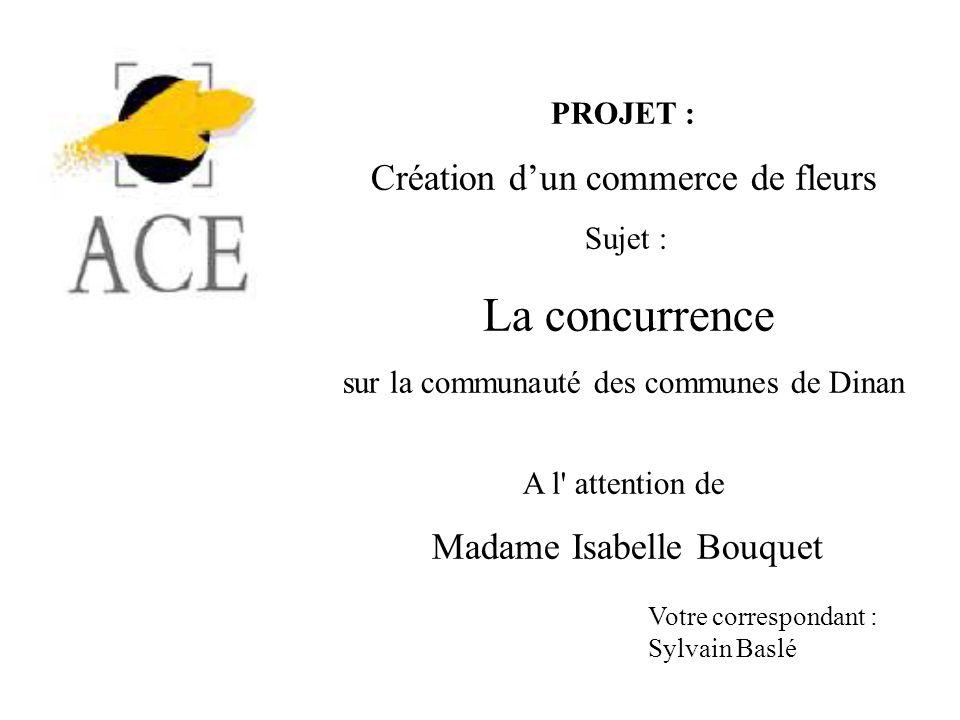 La concurrence Création d'un commerce de fleurs PROJET :
