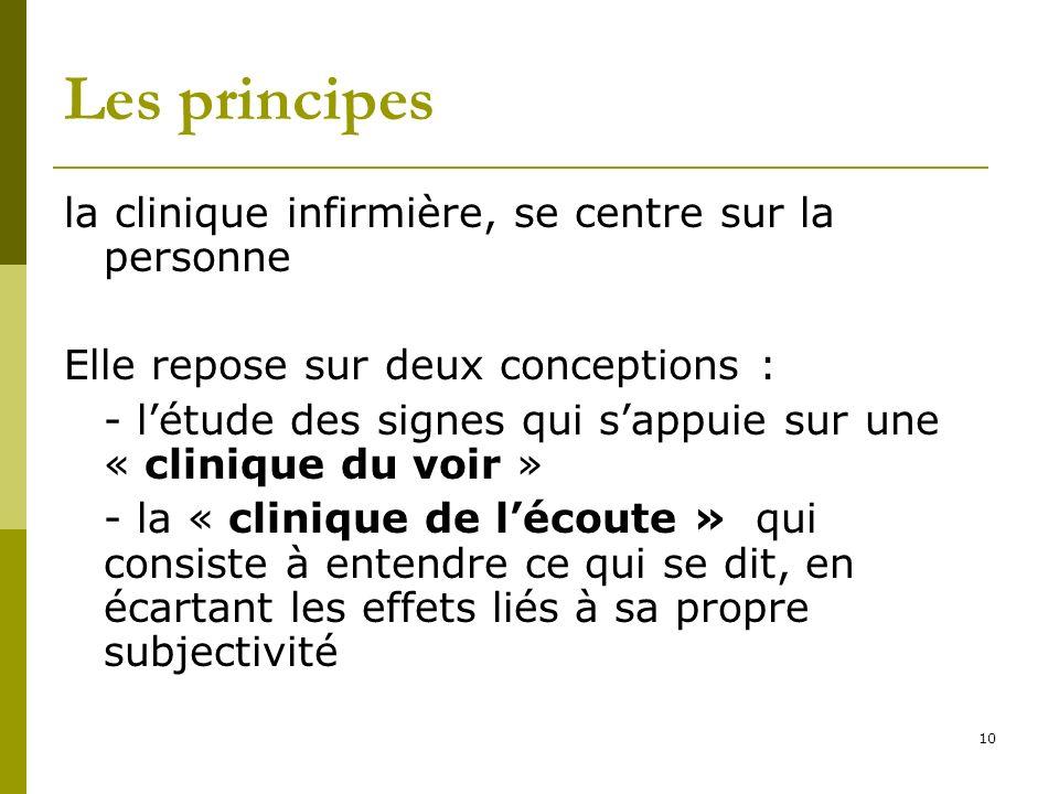 Les principes la clinique infirmière, se centre sur la personne