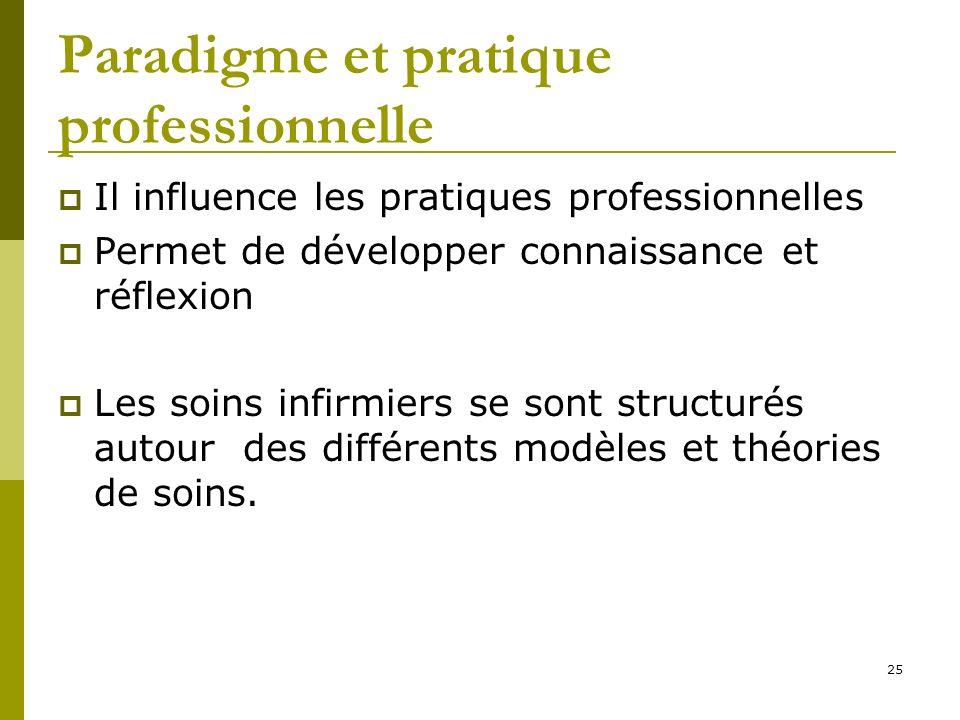 Paradigme et pratique professionnelle