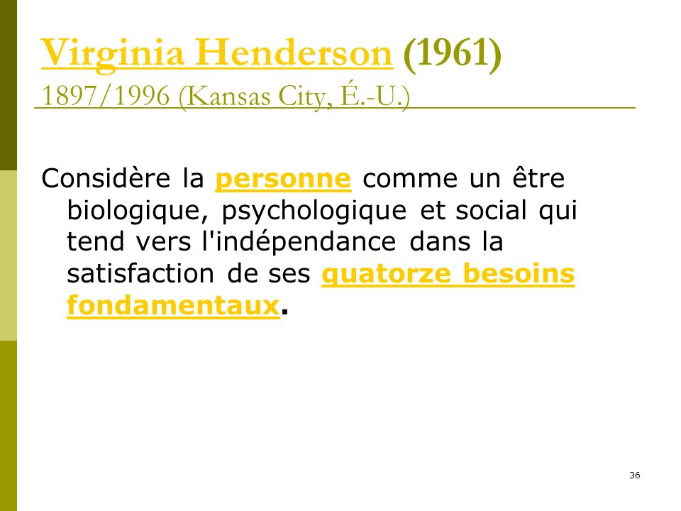 Virginia Henderson (1961) 1897/1996 (Kansas City, É.-U.)