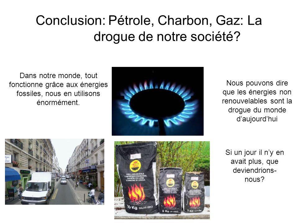 Conclusion: Pétrole, Charbon, Gaz: La drogue de notre société
