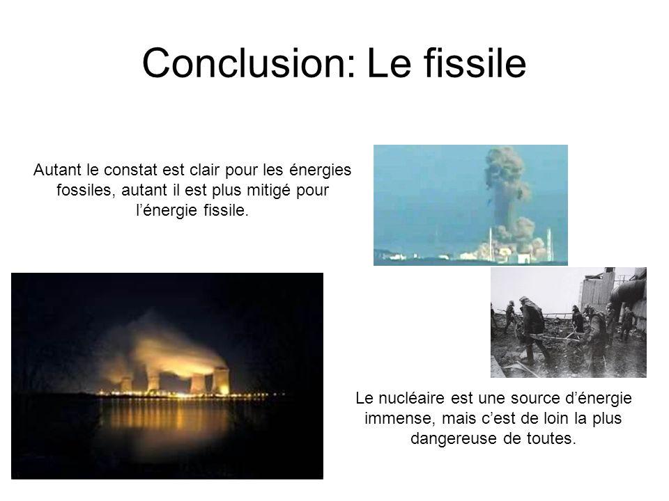 Conclusion: Le fissile