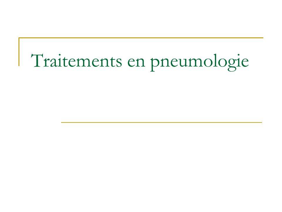 Traitements en pneumologie