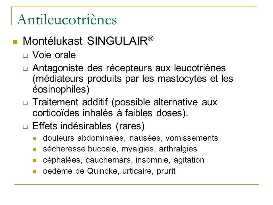 Antileucotriènes Montélukast SINGULAIR® Voie orale