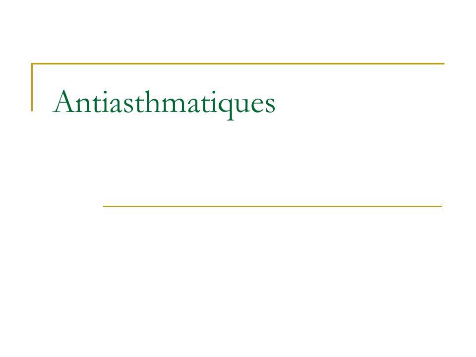 Antiasthmatiques