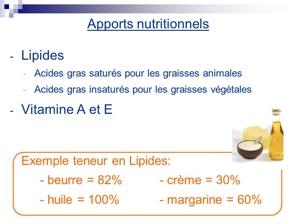 Apports nutritionnels