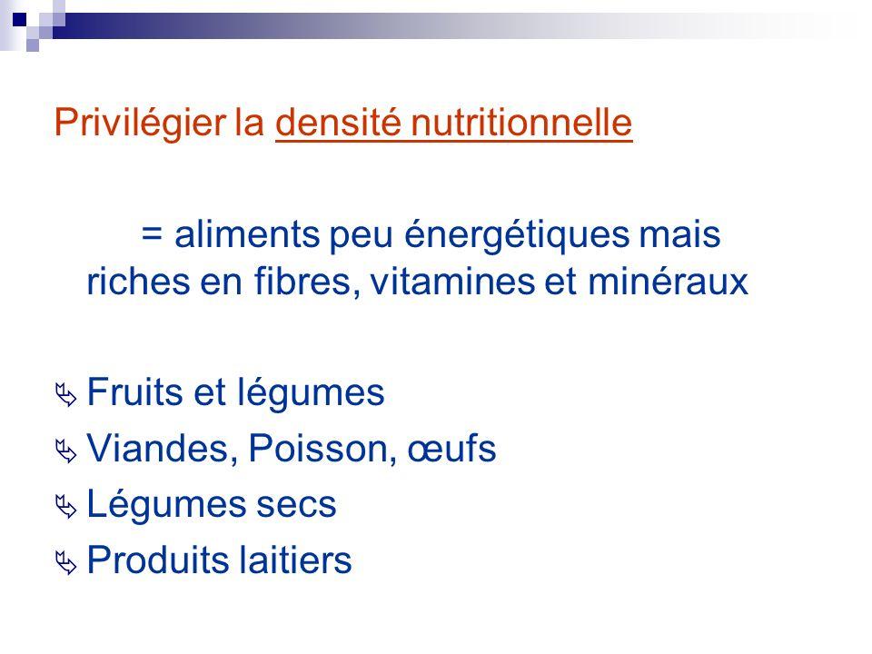 Privilégier la densité nutritionnelle