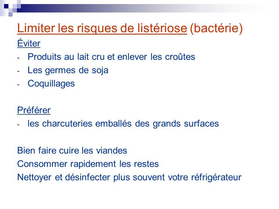 Limiter les risques de listériose (bactérie)