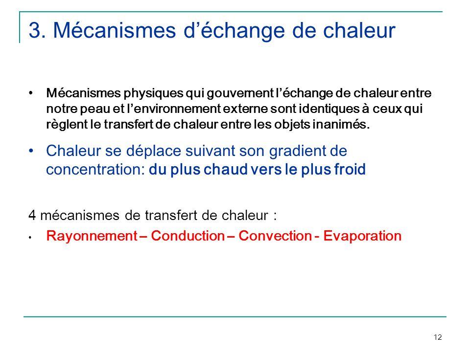 3. Mécanismes d'échange de chaleur