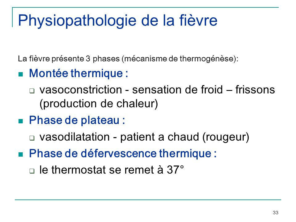 Physiopathologie de la fièvre