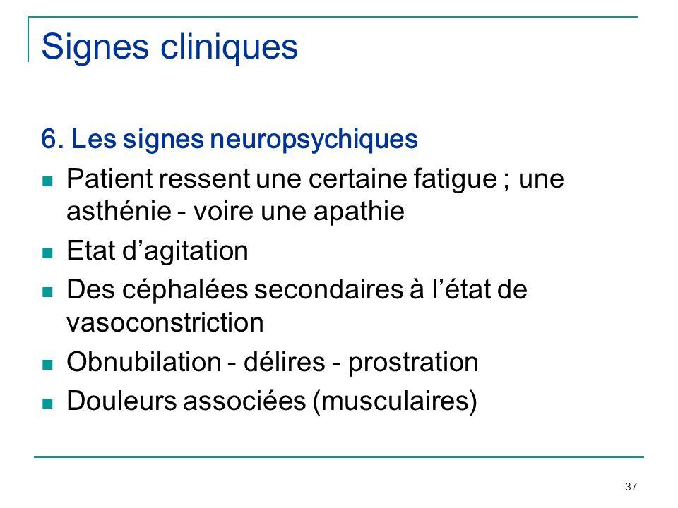 Signes cliniques 6. Les signes neuropsychiques