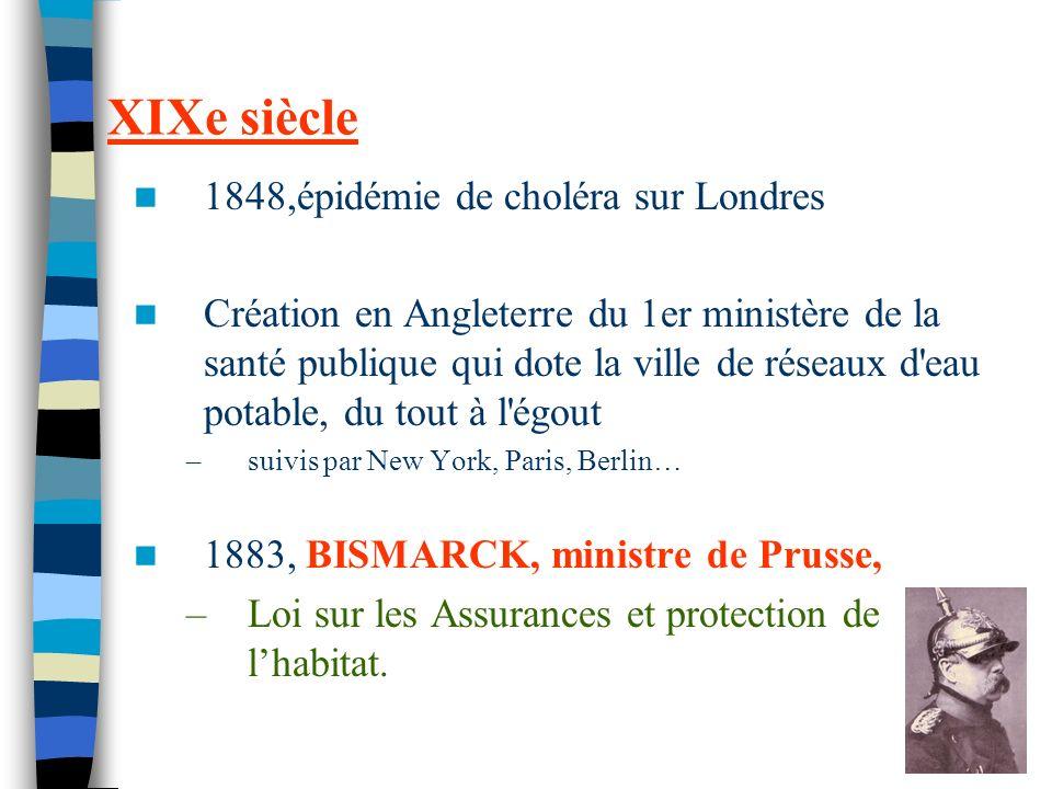 XIXe siècle 1848,épidémie de choléra sur Londres