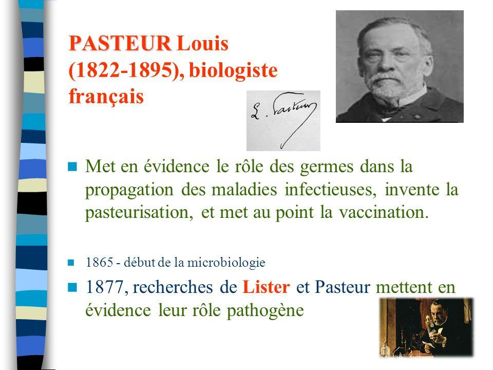 PASTEUR Louis (1822-1895), biologiste français