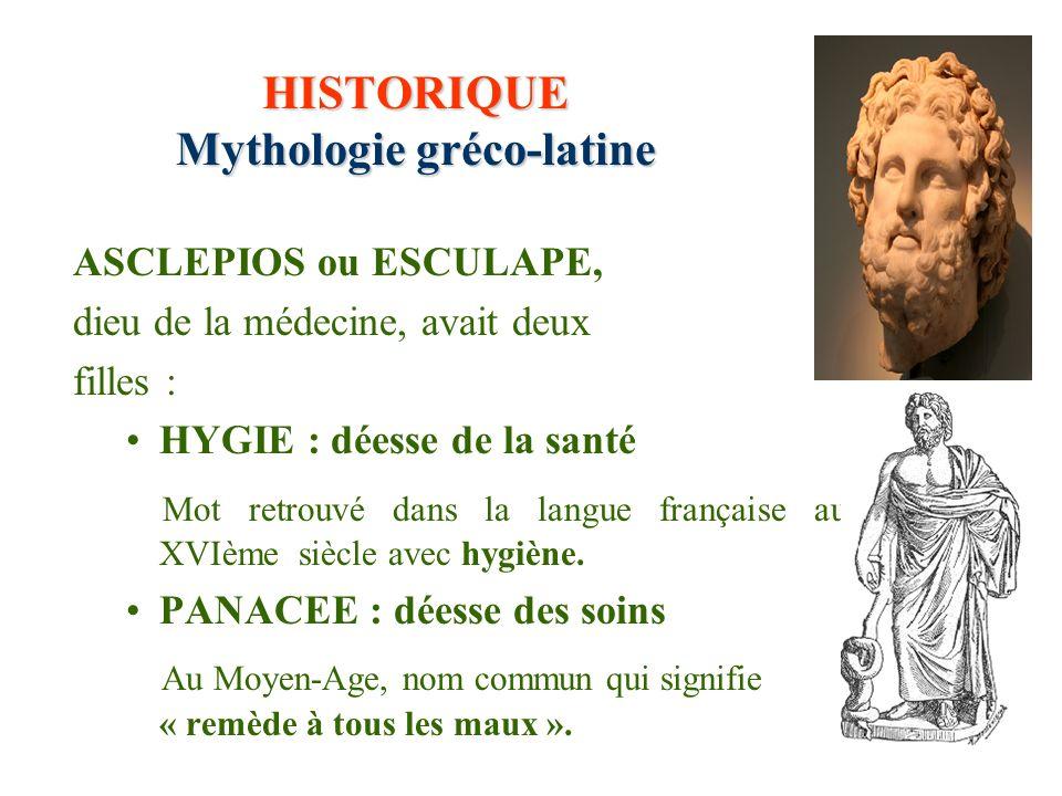 HISTORIQUE Mythologie gréco-latine