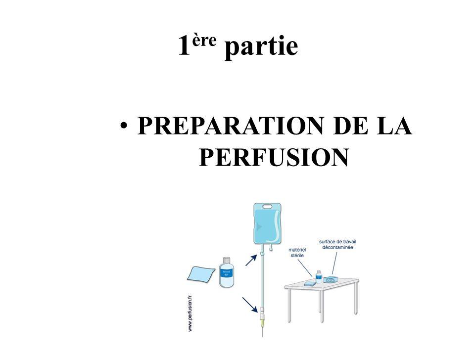 PREPARATION DE LA PERFUSION