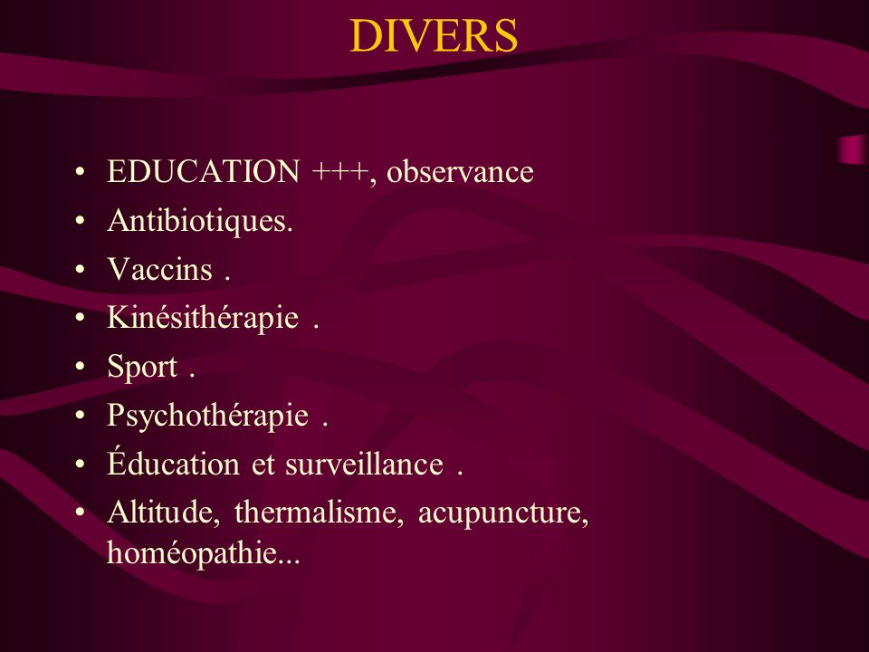 DIVERS EDUCATION +++, observance Antibiotiques. Vaccins .