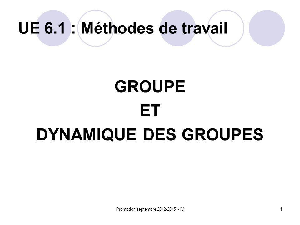 UE 6.1 : Méthodes de travail